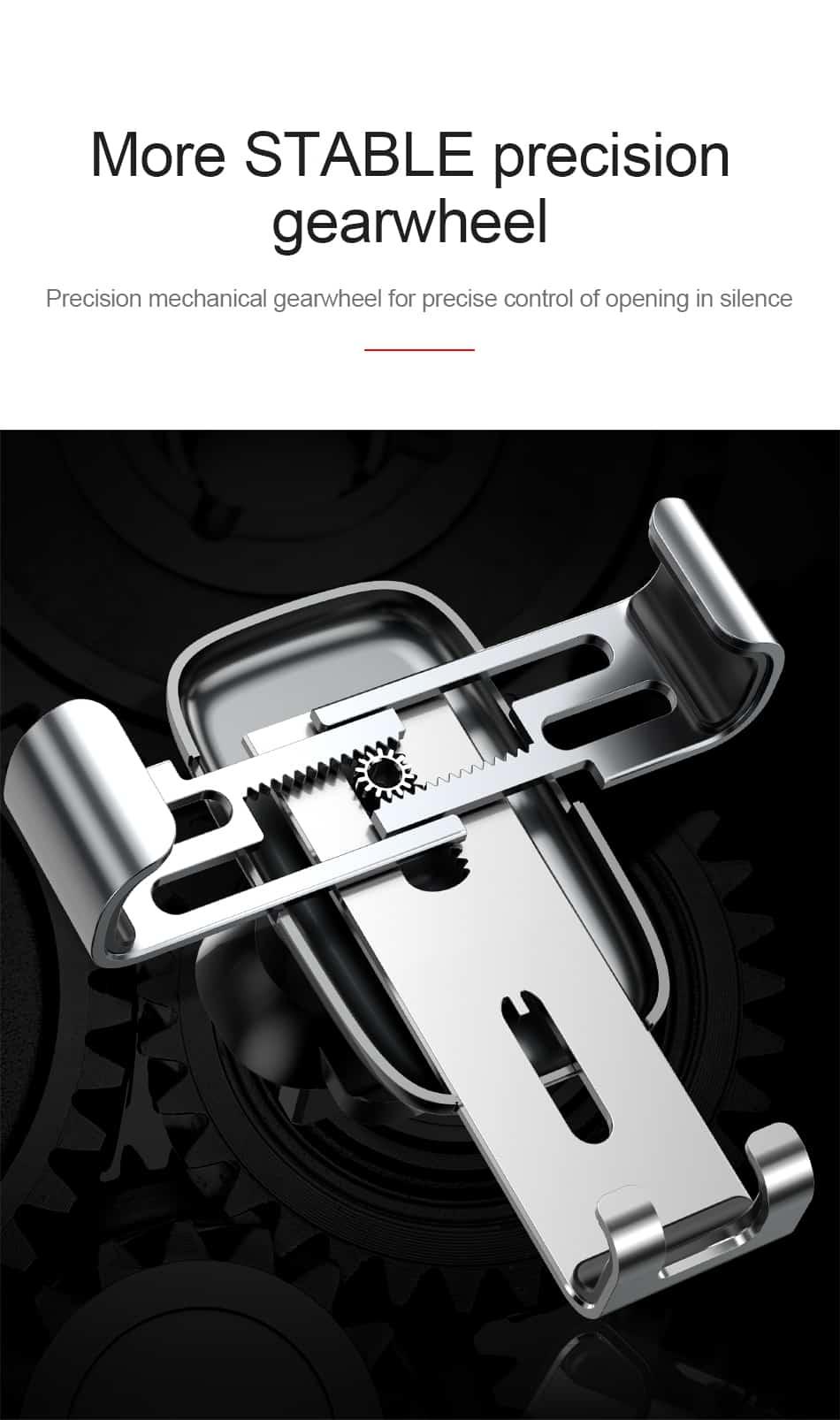 Bộ đế giữ điện thoại dùng cho xe hơi Baseus Metal Age Gravity thiết kế kim loại sang trọng