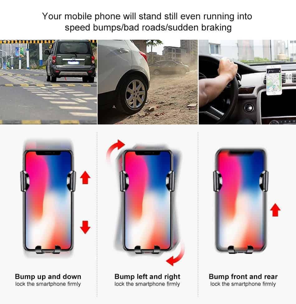 Giá đỡ điện thoại trên ô tô hít chân không Baseus Osculum Type Gravity Car Mount