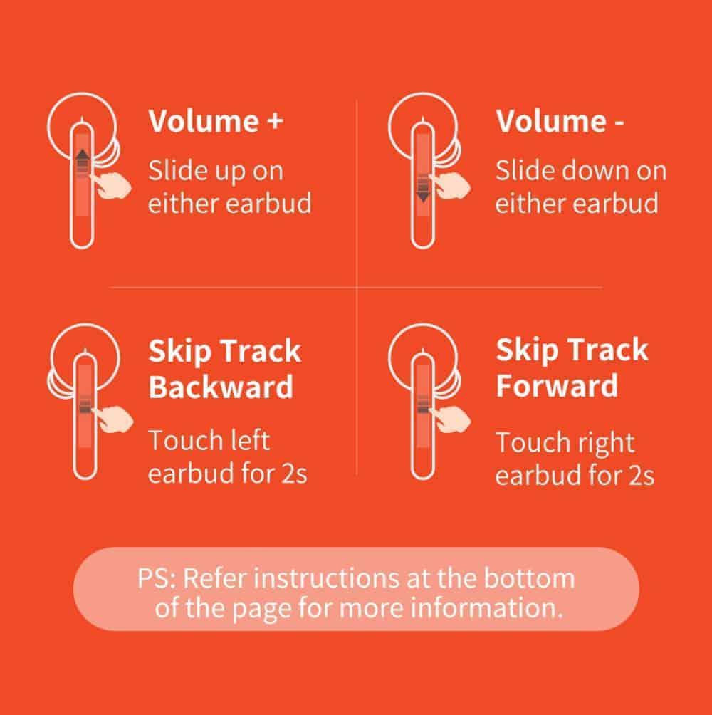 Tai nghe Bluetooth True Wireless QCY T3 Bluetooth V5.0, chống nước IPX5