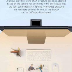 Đèn bàn treo màn hình máy tính Baseus 3 chế độ sáng,tăng giảm cường độ ánh sáng chống mỏi mắt và bảo vệ mắt khỏi ánh sáng xanh, thiết kế sang trọng