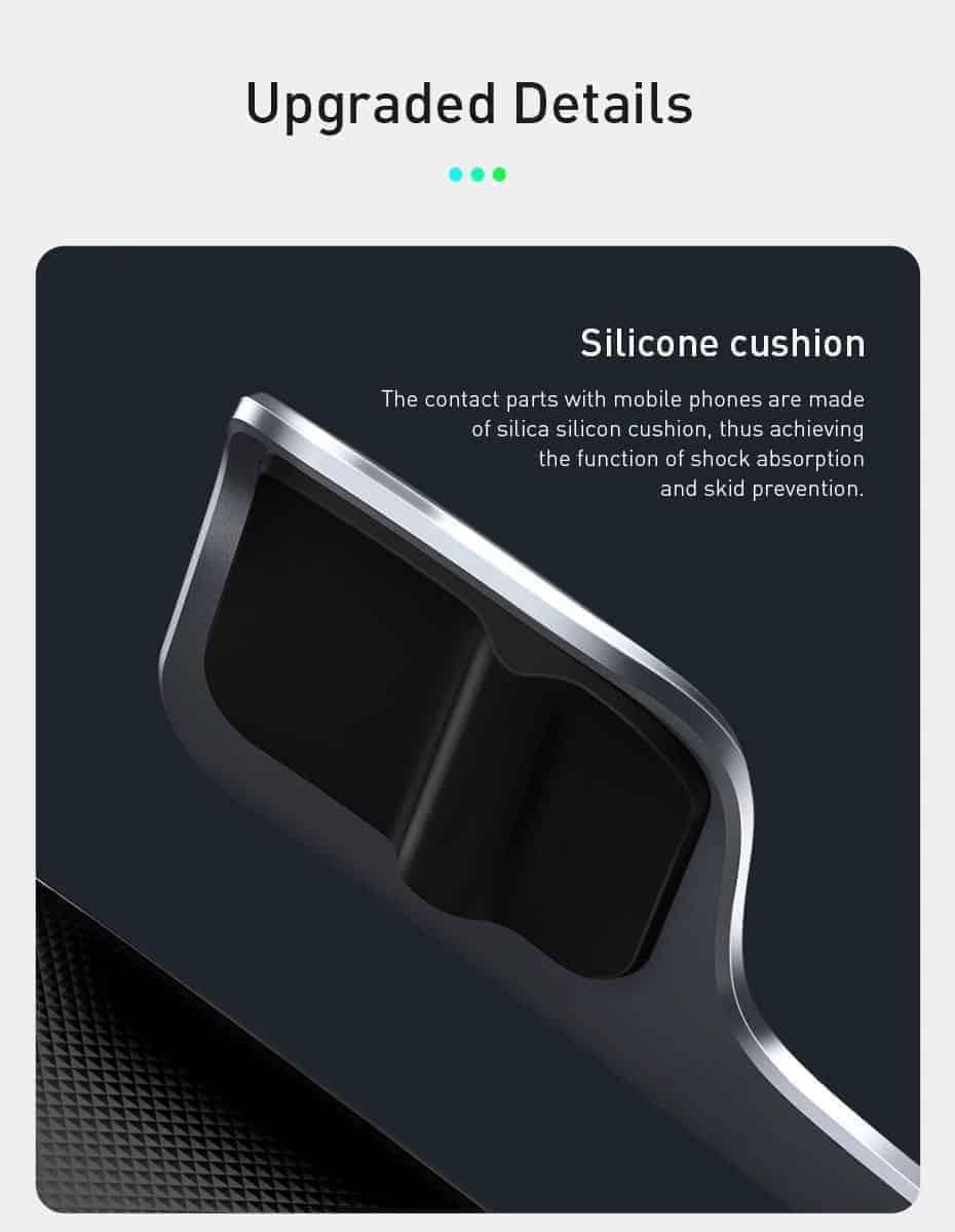Giá đỡ điện thoại trên ô tô tích hợp sạc nhanh không dây 15W Baseus Milky Way Electric Bracket tích hợp cảm biến tự động khóa giữ điện thoại