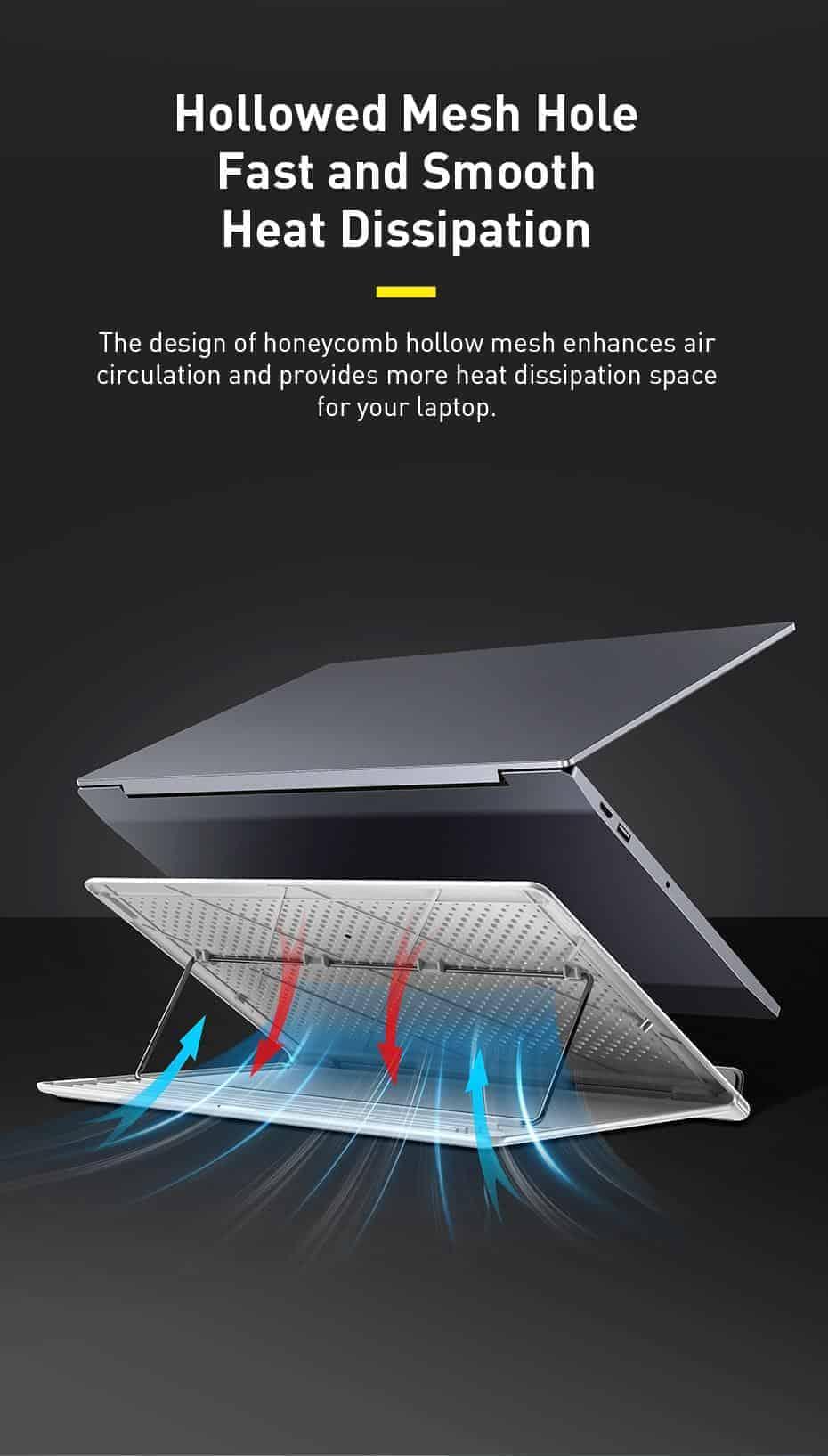 Giá đỡ máy tính Baseus Let's go cho Laptop , Macbook dưới 16 inch ,thiết kế thoáng khí ,nâng hạ góc dễ dàng có thể gập lại gọn gàng mang đi
