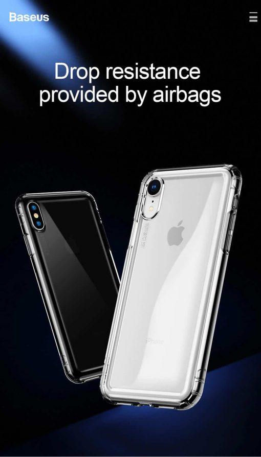 Ốp lưng Baseus Air Bag chống sốc 4 chiều , thiết kế đệm khí bảo vệ toàn diện cho iPhone XR XS Max