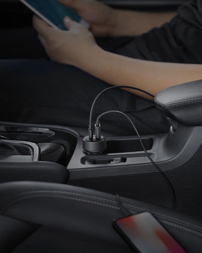 Sạc ô tô Anker 2 Cổng 33W, PowerDrive PD+2 - A2721