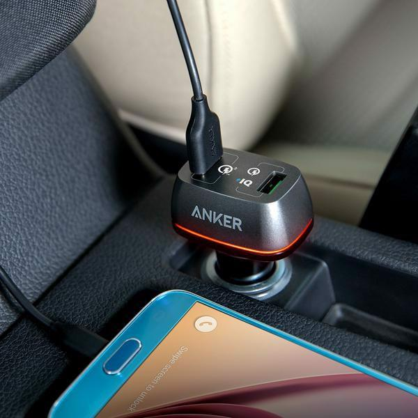 Sạc ô tô Anker 2 cổng, 42w, Quick Charge 3.0 - [PowerDrive+ 2, 42w, QC 3.0] - A2224