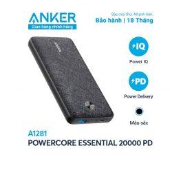 Pin Dự Phòng Anker PowerCore Essential 20000mAh PD - A1281