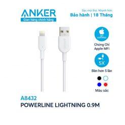 Cáp Sạc Anker Powerline Ii Lightning Dài 0.9m A8432