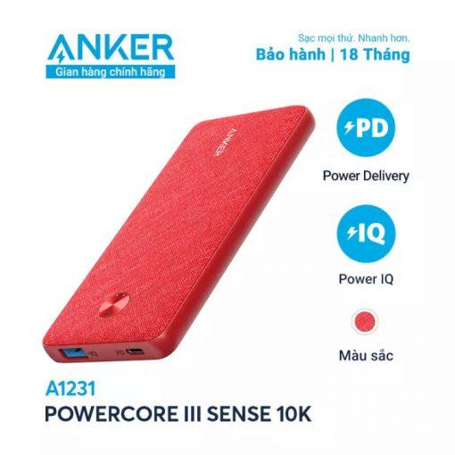 Pin Dự Phòng Anker PowerCore Slim 10000mAh PD - A1231