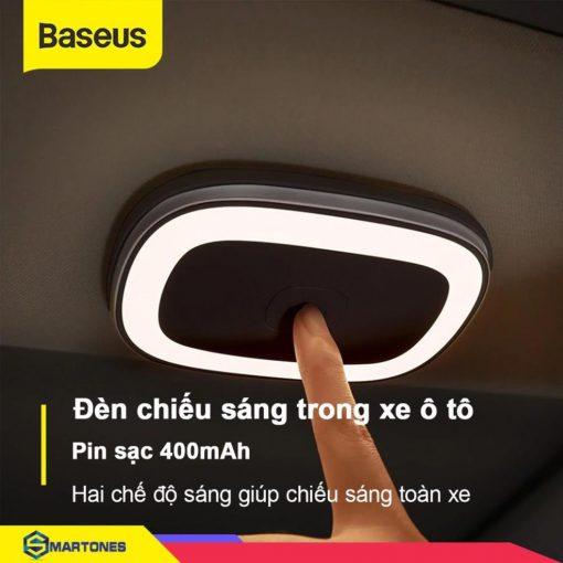 Đèn đa năng Baseus, hỗ trợ chiếu sáng trong xe ô tô, tủ quần áo, nhà bếp, thiết kế không dây sang trọng pin sạc 400mAh