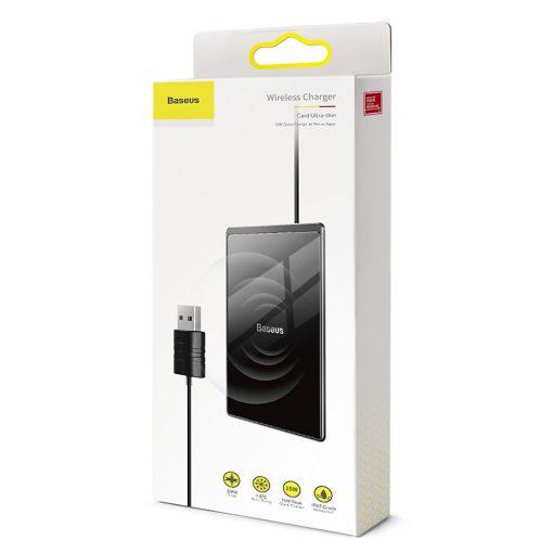 Đế sạc không dây Baseus Card Ultra-thin 15W, thiết kế chống nước IP67 siêu mỏng 0.3cm, chuẩn Qi cho iPhone 8/X/Xs/XR/XS Max, Samsung Note 8/9/10, S7/S8/S9/S10