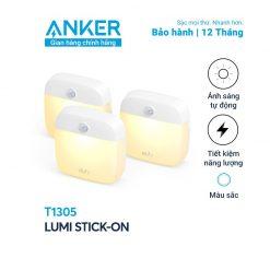 Bộ 3 đèn Eufy Lumi Dual-bright, 0.2W - T1305 đèn thông minh cảm biến chuyển động bảo hành 12 tháng Anker Việt Nam