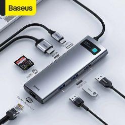 Baseus Hub Metal Gleam 8 In 1 05