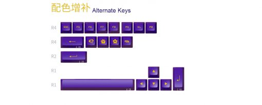 Akko Keycap Set Los Angeles Pbt Double Shot Asa Profile 158 Nut 08