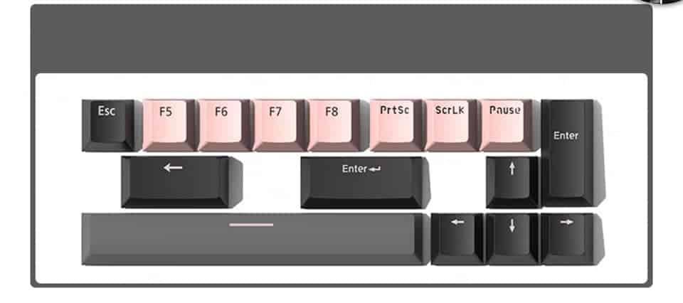 Ban Phim Co Mojike Gk1 Black Pink Keycap Tang Kem